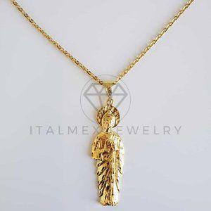 "18K Gold Filled Saint Jude Pendant & 24"" Chain"